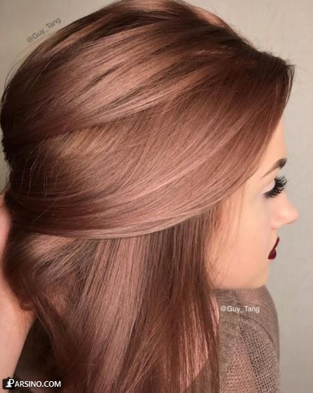 رنگ مو , رنگ موی زنانه , رنگ مو 2018 , رنگ مو نسکافه ایی زیبا
