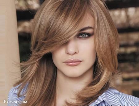 رنگ مو , رنگ موی زنانه , رنگ مو 2018 , رنگ مو نسکافه ایی متوسط